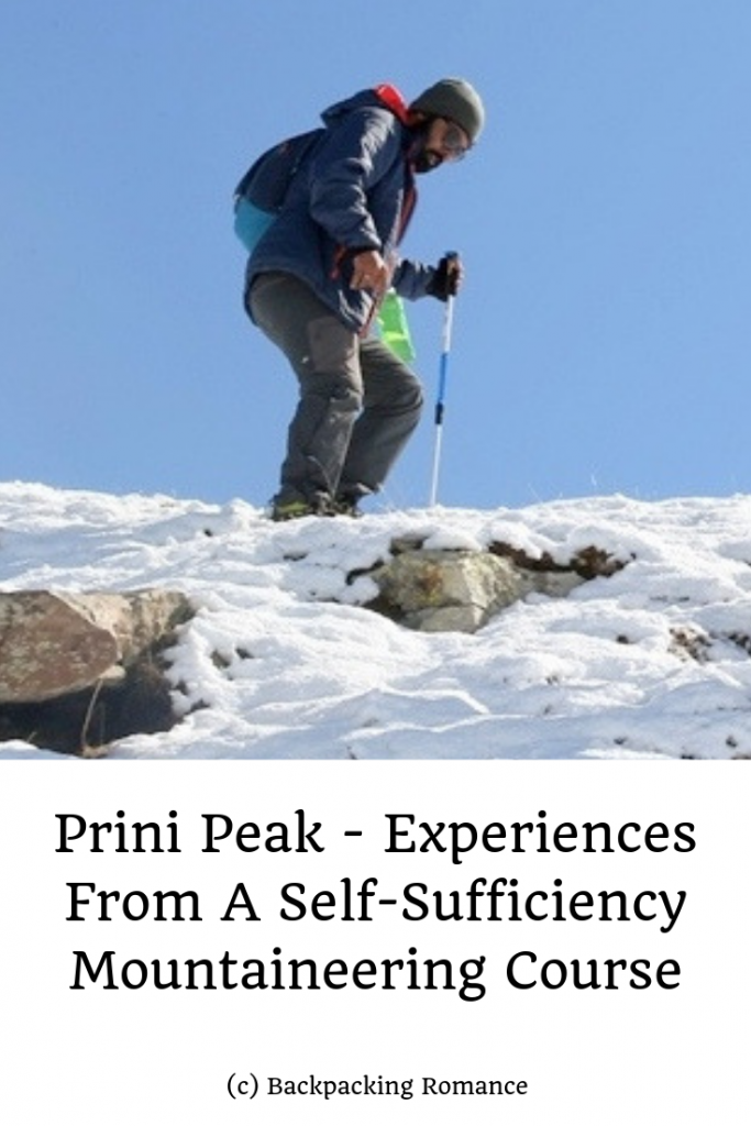 Prini Peak - Experiences From A Self-Sufficiency Mountaineering Course