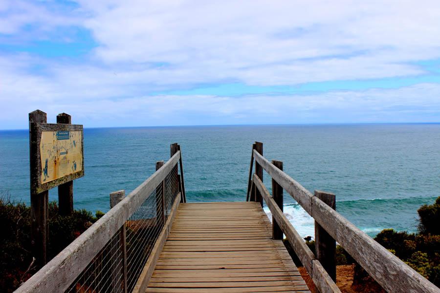 backpacking romance Cape Schanck wooden bridge