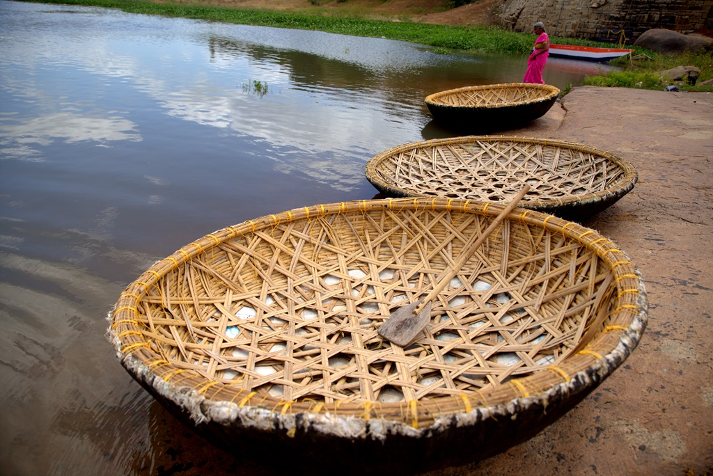 hampi backpacking romance coracle ride