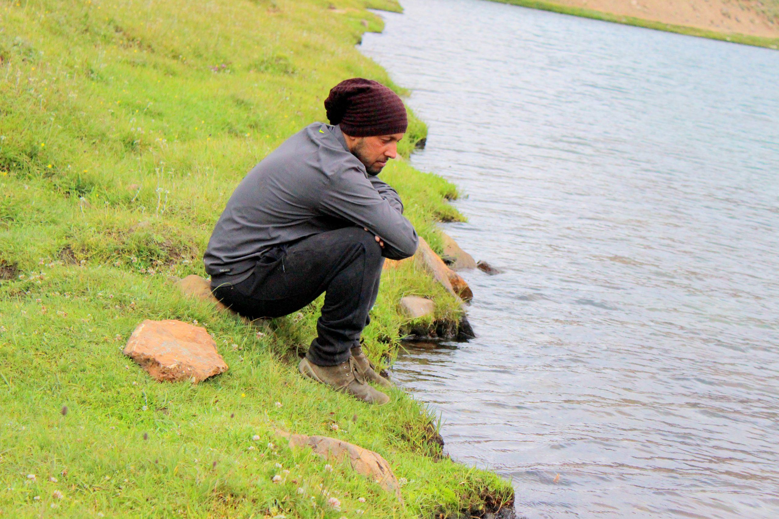 sahil at the lake