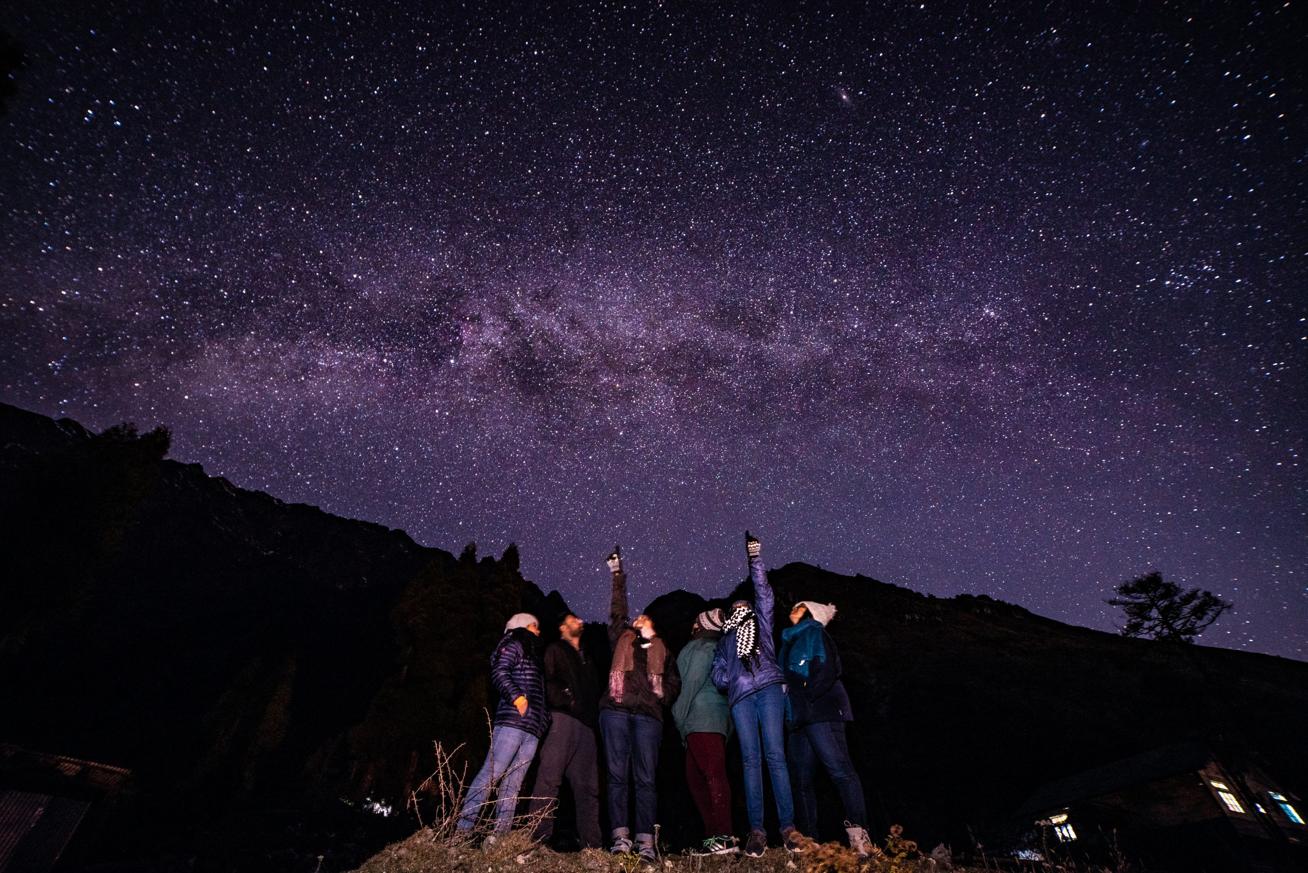 milky way backpacking romance